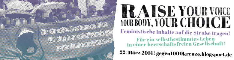 Raise your voice! Your body Your choice – Fe­mi­nis­ti­sche In­hal­te auf die Stra­ße tra­gen